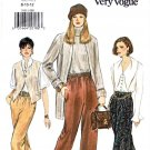 Vogue Sewing Pattern 9101 Misses Size 8-10-12 Easy Pants Tapered Straight Legged Elastic Waist