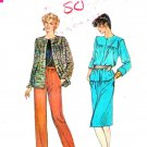 Vogue Sewing Pattern 8094 Misses Size 18-22 Loose-fitting Jacket Straight Skirt Pants