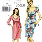 Vogue Sewing Pattern 8351 Misses Size 14-20 Easy Raised Empire Waist Straight Knit Dress