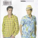 "Vogue Sewing Pattern 8800 Mens Size 34-40"" Chest  Easy Long Short Sleeve Button Front Shirt"