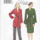 Vogue Sewing Pattern 8825 Misses Size 16-24 Easy Raised Empire Waist Tunic Dress Pants