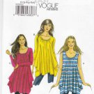Vogue Sewing Pattern 8707 Misses Size 16-26 Easy Pullover Loose-Fitting Knit Top Tunic
