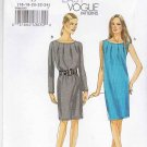 Vogue Sewing Pattern 8683 Misses Size 16-24 Easy Pullover Sleeveless Long Sleeve Dress
