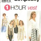 Simplicity Sewing Pattern 8744 Misses Size 18-24 Lined Short Long Vests