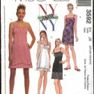 McCall&#39;s Sewing Pattern 3592 Junior Size 3/4-9/10 NYNY Slip Raised Waist Empire Dress Sundress