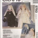 McCall's Sewing Pattern 5793 741 P371 Country Rabbits Crafts Bridal Clothes Wedding Dress Tuxedo