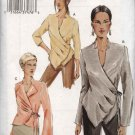 Vogue Sewing Pattern P937 7828 Misses Size 6-8-10 Easy Front Wrap Blouse Top