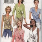 Vogue Sewing Pattern 7876 Misses Size 12-16 Basic Wrap Side Tie Blouse Sleeve Neck Options