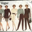 Vogue Sewing Pattern 2990 Misses Size 14-16-18 Easy Wardrobe Dress Jacket Skirt Top Pants