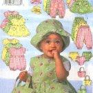 Butterick Sewing Pattern 5326 Baby Infant Size NB-M Easy  Wardrobe Dress Jumper Romper Panties