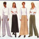 Butterick Sewing Pattern 5844 Misses Size 8-10-12 Easy Classic Long Pants A-Line Skirts