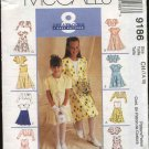 McCall's Sewing Pattern 9186 Girls Size 4-6 Easy Dress Lined Bolero Shrug Variations