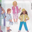 Butterick Sewing Pattern 3043 Girls Size 6-8 Easy Wardrobe Top Shirt Pants Purse Hat