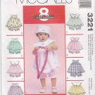 McCall's Sewing Pattern 3221 Baby Girls Infant Size 13-24# Tops Panties Hat Round Collar Yoke