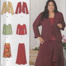 Simplicity Sewing Pattern 1761 Womens Plus Size 20W-28W Kahliah Ali Knit Top Jacket Skirts