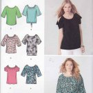 Simplicity Sewing Pattern 1805 Misses Size 4-26 Easy Knit Pullover Tops Sleeve Hem Options