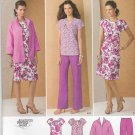 Simplicity Sewing Pattern 1885 Womens Plus Size 20W-28W Wardrobe Dress Top Pants Jacket