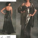 Vogue Sewing Pattern 1079 Misses Size 6-8-10 Badgley Mischka Formal Dress Evening Gown Stole