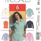 McCall's Sewing Pattern 5145 Womans Plus Size 26W-32W Easy Button Front Princess Seam Shirt