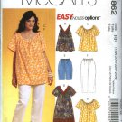 McCall's Sewing Pattern 5862 Womans Plus Size 26W-32W Easy Wardrobe Top Dress Shorts Pants