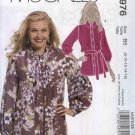 McCall's Sewing Pattern 5976 Womans Plus Size 18W-24W Button Front Long Sleeve Tunic Blouse Top