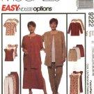 McCall's Sewing Pattern 9222 Womans Plus Size 28W-32W Wardrobe Jacket Dress Top Pants Shorts