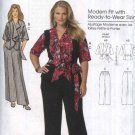 Butterick Sewing Pattern 5575 Womens Plus Size 18W-44W Short Sleeve Front Tie Jacket Pants Belt