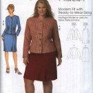 Butterick Sewing Pattern 5574 Womens Plus Size 18W-44W Button Front Long Sleeve Jacket Skirt Suit