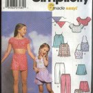Simplicity Sewing Pattern 5158 9797 5608 Girls Size 7-14 Summer Tops Shorts Capris Scarf Skorts