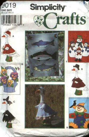Concrete lawn goose clothing patterns?? - HOME SWEET HOME