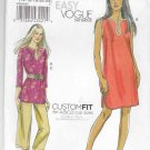 Vogue Sewing Pattern 8658 Misses Size 6-12 Easy Pullover Tunic Dress Cropped Pants