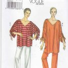 Vogue Sewing Pattern 8698 V8698 Misses Size 4-14 Easy Pullover Loose-Fitting Knit Tunic Pants