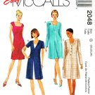 McCall's Sewing Pattern 2048 Misses' Size 10-14 Easy Fitted Dress Button Front Jacket Coat