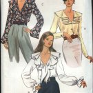 Vogue Sewing Pattern 8702 Misses Size 12-16 Easy Blouses Tops Wrap Ruffles
