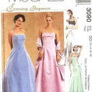 McCall's Sewing Pattern 3090 Misses Size 4-10 Evening Gown Formal Prom Halter Full Skirt Dress