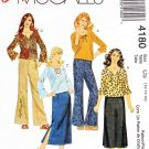 McCall's Sewing Pattern 4180 Girls Size 7-12 Easy Wardrobe Pullover Top Pants Skirt