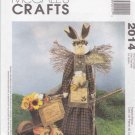 McCall's Sewing Pattern 2014 Garden Angel Bunny Wall Hanging Cheryl Haynes