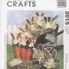 McCall's Sewing Pattern 2015 Carrot Cabbage Garden Bunny Cheryl Haynes