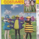 McCall's Sewing Pattern 2382 Boys Girls Sizes 3-4 Costumes Bee Lady Bug Spider Ant