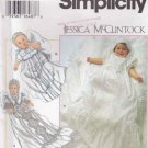 Simplicity Sewing Pattern 9378 Baby Infant Sizes up to 24# Christening Dress Gown Slip Bonnet