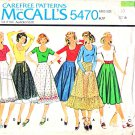 McCall's Sewing Pattern 5470 Misses Size 10 Knit T-Shirt Flared Gored Hem Ruffle Skirt