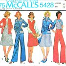 Retro McCall's Sewing Pattern 5428 Misses' Size 16 Shirt-Jacket A-Line Skirt Vest Pants