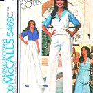 McCall's Sewing Pattern 5469 Misses' Size 10 Marlo Thomas Wardrobe Shirt Vest Skirt Pants