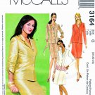 McCall's Sewing Pattern 3164 Misses Size 20-24 Lined Princess Seam Jacket A-Line Skirt