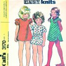Retro McCall's Sewing Pattern 3170 Girls' Size 6 Jumper  Knit Zipper Front Romper Jumpsuit