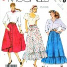 McCall's Sewing Pattern 3170 Misses' Size 8-12 Easy Full Skirt Button Front Ruffle Hem