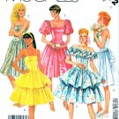 McCall's Sewing Pattern 3172 Misses' Size 6 Formal Strapless Off Shoulder Short Dress