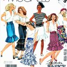 McCall's Sewing Pattern 3175 Misses Size 6-8 Easy Basic Straight Skirts Tiered Hem Ruffles
