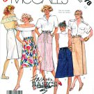 McCall's Sewing Pattern 3178 M3178 Misses' Size 12 Easy Wrap Front Back Basic Skirts