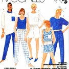 McCall's Sewing Pattern 3179 Misses Size 10-14 Knit Pullover Tops Shell Pants Shorts